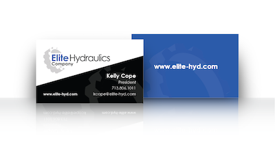 Custom Business Cards for Elite Hydraulics Business